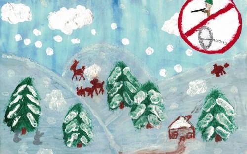 Amelia Jamróz - Bieszczady zimą, chrońmy zwierzęta image